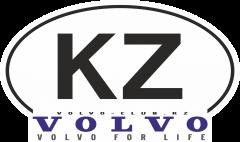 Знак KZ наклейка volvo