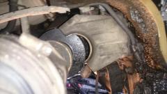 демонтаж кронштейна подвесного подшипника