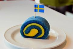 Swedish Flag Roll Cake