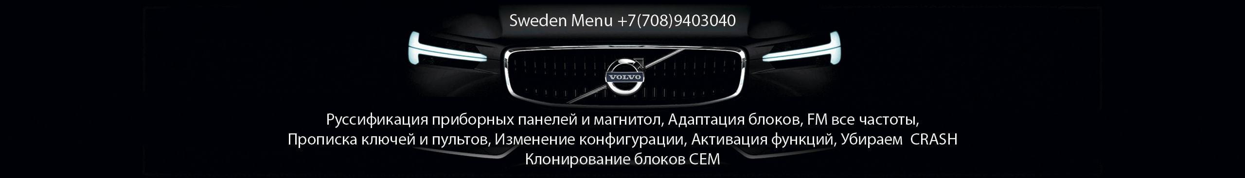 Прописка, адаптация, синхронизация, русификация VOLVO (электронные блоки)